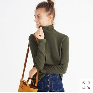 NWT Turtleneck Whisper Cotton Long Sleeve Green
